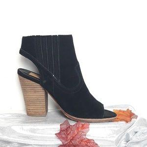 Dolce Vita Black Peep Toe Heels